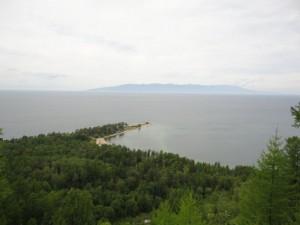 Мыс Крестовый, панорама сверху.