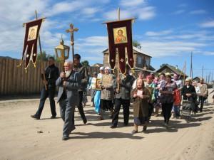 Крестный ход в Усть-Баргузине